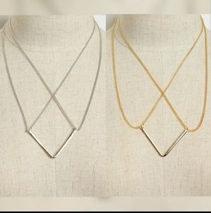 Crossed Dropped Necklace
